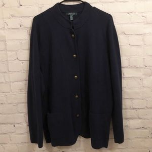 Lauren by Ralph Lauren navy cardigan